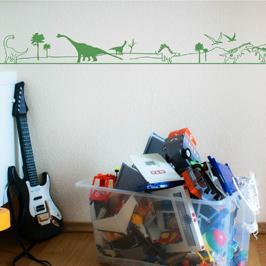 wandtattoo dinosaurier bord re wandbilder f r kindgerechtes wohnen im kinderzimmer bei danaraum. Black Bedroom Furniture Sets. Home Design Ideas