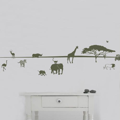 Wandtattoo Afrika Bordure Wandbilder Fur Kindgerechtes Wohnen Im