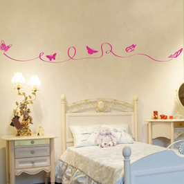 wandtattoo schmetterlinge bord re wandbilder f r kindgerechtes wohnen im kinderzimmer bei danaraum. Black Bedroom Furniture Sets. Home Design Ideas