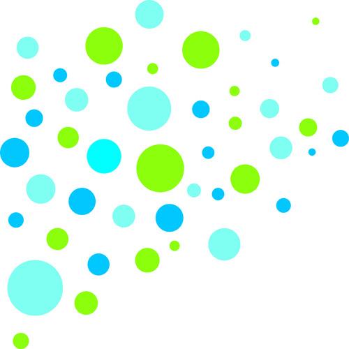 wandtattoo kreise muster grün blau | wandbilder für kindgerechtes ... - Kinderzimmer Grun Und Blau