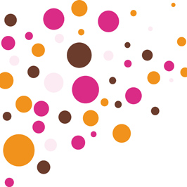 wandtattoo kreise muster rot orange wandbilder f r kindgerechtes wohnen im kinderzimmer bei. Black Bedroom Furniture Sets. Home Design Ideas