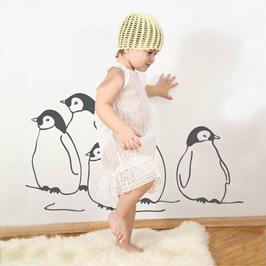 wandtattoo pinguine wandbilder f r kindgerechtes wohnen im kinderzimmer bei danaraum. Black Bedroom Furniture Sets. Home Design Ideas